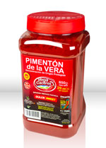 Foto bote de plástico de 850 gr de pimentón de la Vera dulce